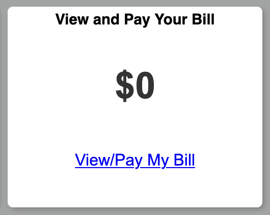 A screenshot of the Pay Your Bill tile in the UCDAccess student portal