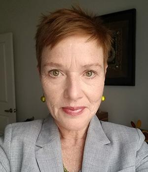 Profile shot of Margaret Wood